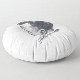A portrait of F Scott Fitzgerald Floor Pillow