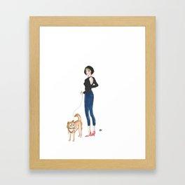 Girl About New York Framed Art Print