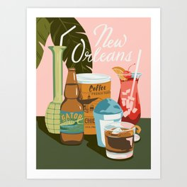 Drinks of Nola Art Print