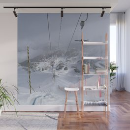 Empty T-lifts Wall Mural