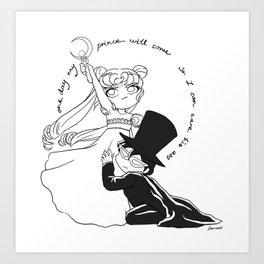 Sailor Moon Don't Need No Man Art Print
