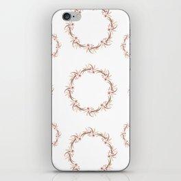Watercolor floral wreath iPhone Skin