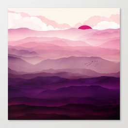 Ultra Violet Day Canvas Print
