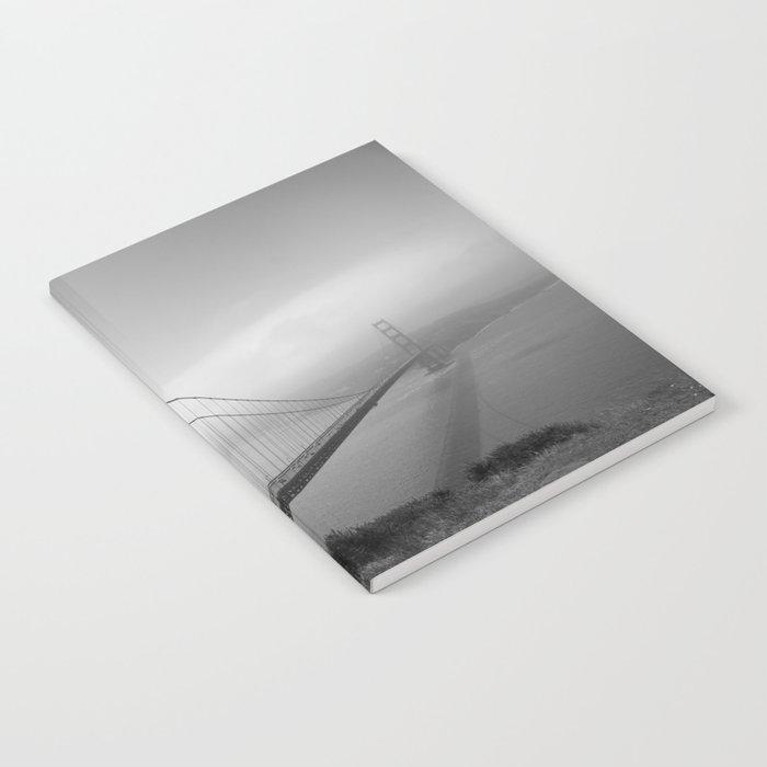 The Golden Gate Bridge In A Mist Notebook