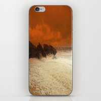 aelwen iPhone & iPod Skins featuring Sea Foam & Rough Seas by Chris' Landscape Images & Designs