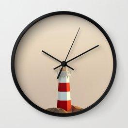 calm lighthouse Wall Clock