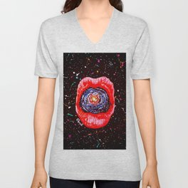 Cosmic Lips 2 Unisex V-Neck