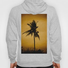 Coconut palm on sunset. Hoody