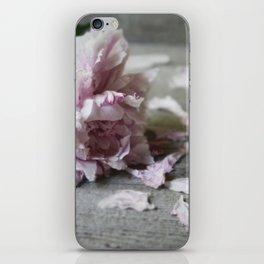 Peony Falling iPhone Skin