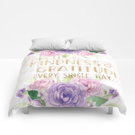 Kindness & Gratitude Comforters