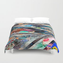 Triangle Forest Abstract Rainbow Duvet Cover