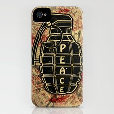 Peace Grenade Print iPhone (4, 4s) Slim Case