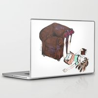reading Laptop & iPad Skins featuring Reading by Ciccimon