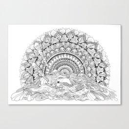 Spaghetti Sunrise Canvas Print