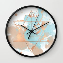 Transforming Within - Copper Rose Gold Wall Clock