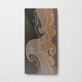 Waves V earth colors Metal Print