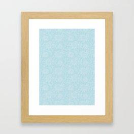 Blue Paisely Framed Art Print