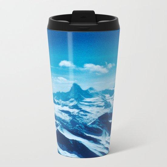 Winter Wonderland up in the Mountains #1 #art #society6 Metal Travel Mug