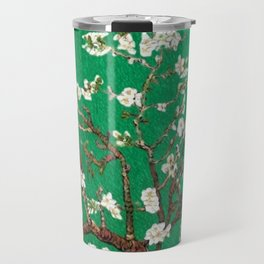 Vincent van Gogh Blossoming Almond Tree (Almond Blossoms) Emerald Sky Travel Mug