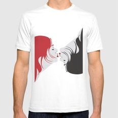 we are one MEDIUM White Mens Fitted Tee