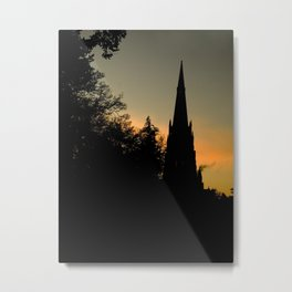 Clumber sunset Metal Print