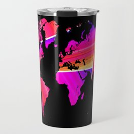 Reflections world map Travel Mug