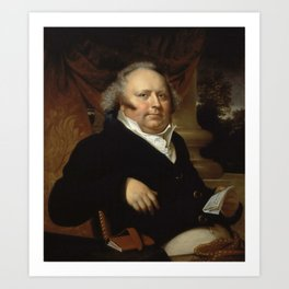 Rembrandt Peale - Portrait of Jacob Gerard Koch Art Print