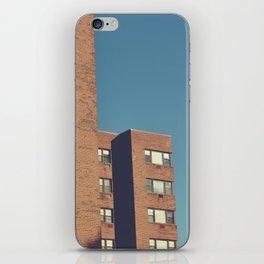 mid century building iPhone Skin