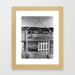 Gateway to San Jose Black and White Photo Framed Art Print