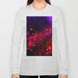 Pink Black Blue Long Sleeve T-shirt