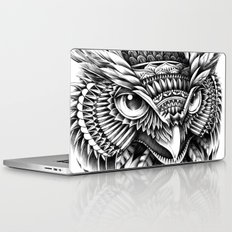 Ornate Owl Head Laptop & iPad Skin