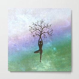 Yoga Tree Pose Metal Print