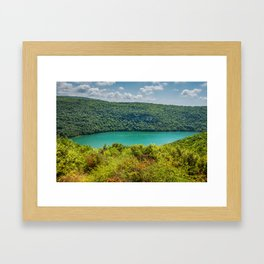 Limski Canal also called Limski Fjord in Istria near Rovinj Framed Art Print