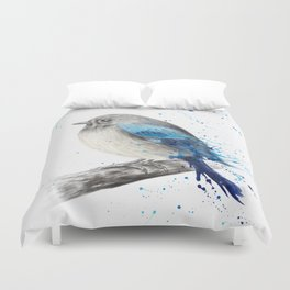 Round and Happy Bird Duvet Cover