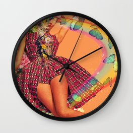 Open heart open mind Wall Clock