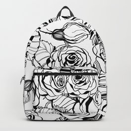 Hand drawn roses pattern Backpack