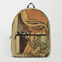 The Samaritan by Alphonse Mucha Backpack