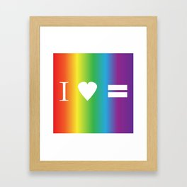 I heart Equality Framed Art Print
