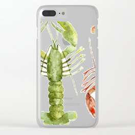 Colorful Lobsters Clear iPhone Case