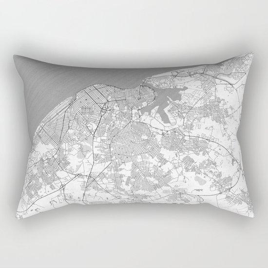 Havana Map Line Rectangular Pillow