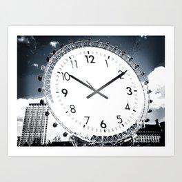 Wheel Of Time Blue Art Print