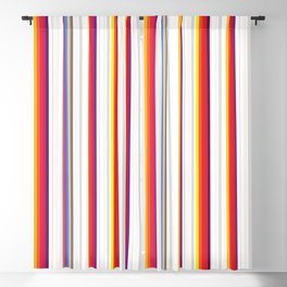 Colorful Stripes Barcode 80s Blackout Curtain