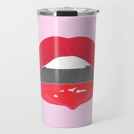 red dripping lips Travel Mug