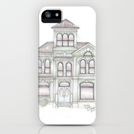 Green Italianate Victorian iPhone Case