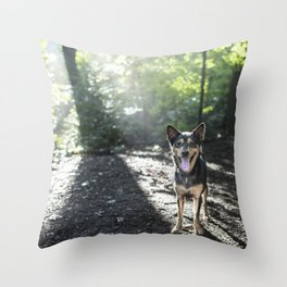 Shira, 5 y/o F, Shepherd Mix, Bronxville, NY Throw Pillow