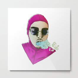 pink guy glasses Metal Print