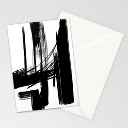 Black Abstract Brush Strokes nr 7 Stationery Cards