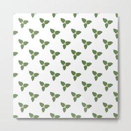 Misletoe - green and beige Metal Print