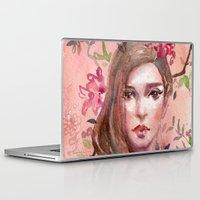 peach Laptop & iPad Skins featuring Peach by Koanne Ko