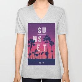 Sunset BLVD Unisex V-Neck